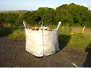 Bulk dumpy bag firewood logs