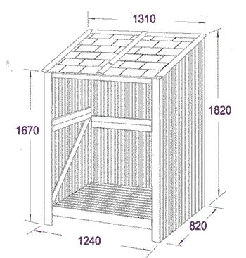 Log Store dimensions sketch