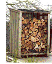 log firewood store shed scotland