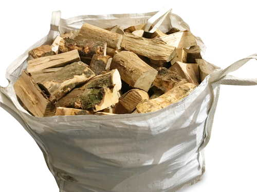 seasoned mixed hardwood firewood logs bulk bag