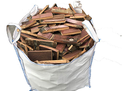 whisky barrel firewood dumpy bag