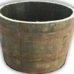 half oak whisky barrel planter