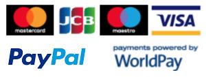 mastercard JCB maestro visa worldpay