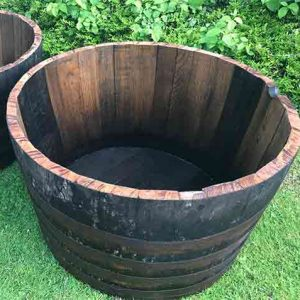 large whisky barrel planter tub